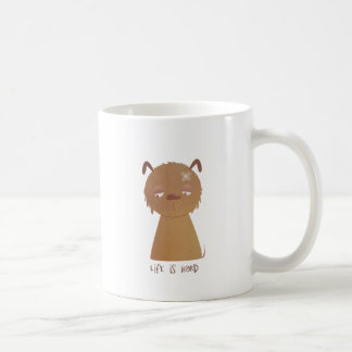 Life is Hard Puppy Basic White Mug