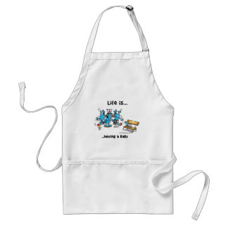 Life is Having a baby Standard Apron