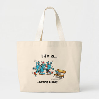 Life is Having a baby Jumbo Tote Bag