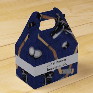 Life is Hockey Party Favour Boxes