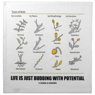 Life Is Just Budding With Potential (Bud Types) Cloth Napkins