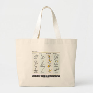 Life Is Just Budding With Potential (Bud Types) Jumbo Tote Bag
