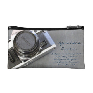 Life is Like a Camera Cosmetic Bag