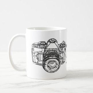 Life is like a camera quote basic white mug