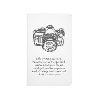 Life is like a camera quote journals