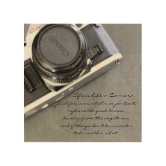 Life is Like a Camera Wood Wall Art Wood Canvases
