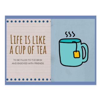 Life Is Like A Cup Of Tea Postcard