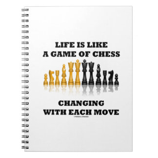 Life Is Like A Game Of Chess Changing Each Move Notebooks