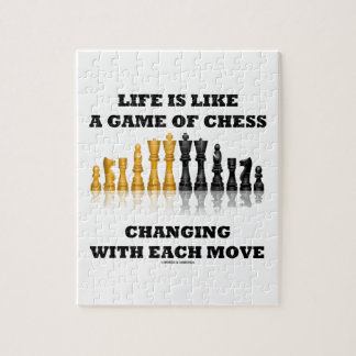 Life Is Like A Game Of Chess Changing Each Move Puzzle