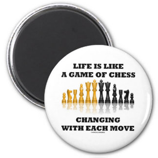 Life Is Like A Game Of Chess (Chess Attitude) 6 Cm Round Magnet