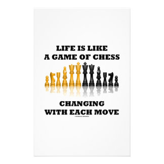Life Is Like A Game Of Chess (Chess Attitude) Stationery Design
