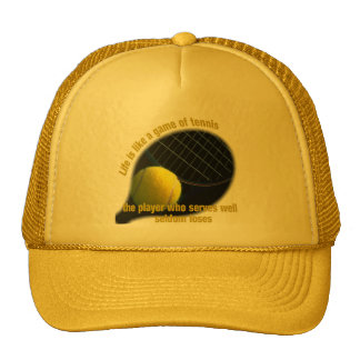 Life is like a game of tennis hats
