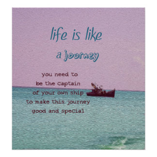 Life is Like a Journey Inspirational Decor Art Poster