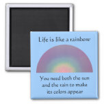 Life is like a Rainbow - mgnet Square Magnet