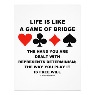 Life Is Like Game Of Bridge Determinism Free Will 21.5 Cm X 28 Cm Flyer