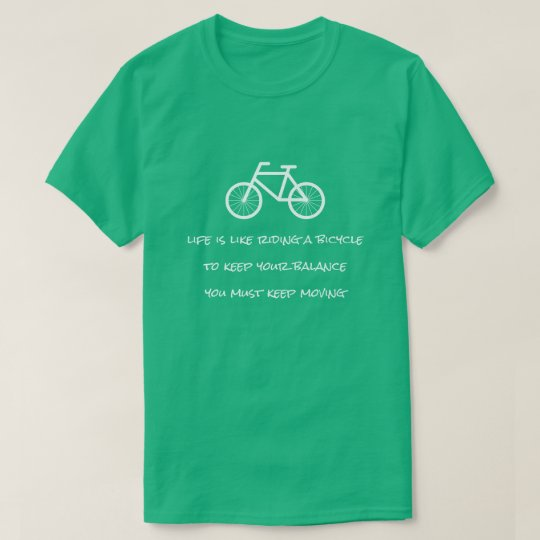Life is like riding a bicycle Eintein quote