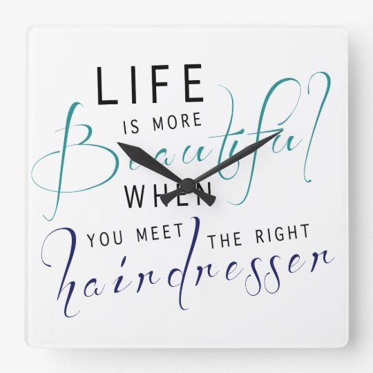 Life Is More Beautiful Text Phrase Clock