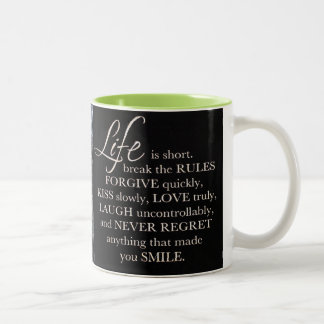 Life is... Two-Tone coffee mug