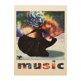 life is music wood print