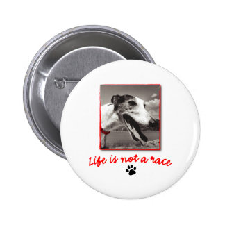 Life is NOT a Race 6 Cm Round Badge