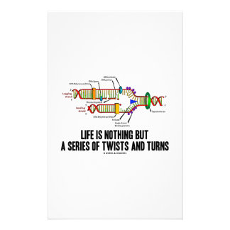 Life Is Nothing But A Series Of Twists And Turns Stationery Paper