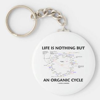 Life Is Nothing But An Organic Cycle (Krebs Cycle) Key Ring