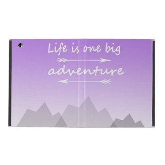 """Life is one big adventure"" iPad 2/3/4 case"