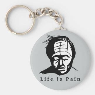 Life is Pain - Depressing Key Ring Basic Round Button Key Ring
