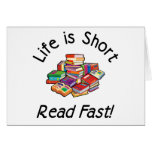 Life is Short Note Cards