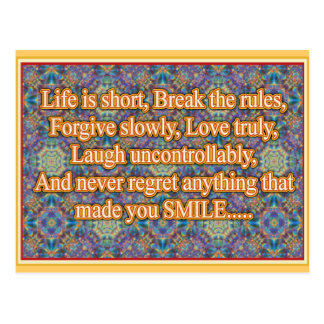 Life is Short Postcard
