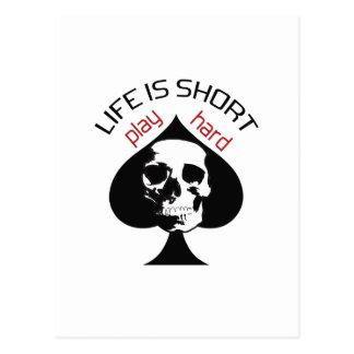 LIFE IS SHORT SKULL POST CARD