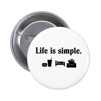Life is simple cruise pinback button