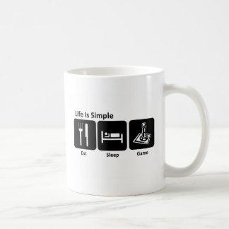 Life is simple Eat sleep Game Basic White Mug