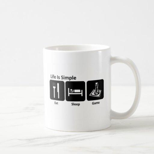 Life is simple Eat sleep Game Coffee Mugs