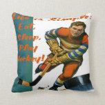 Life is Simple Eat Sleep Play Hockey Pillow