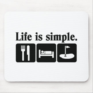 Life is simple, golf mouse mat