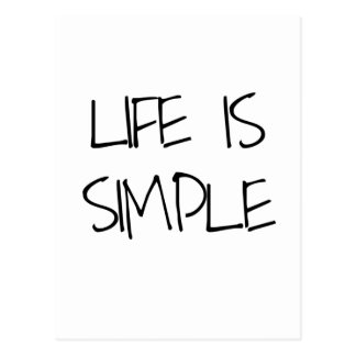 Life Is Simple Inspirational Postcard