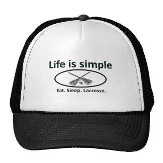 Life is simple, lacrosse cap
