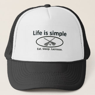 Life is simple, lacrosse trucker hat