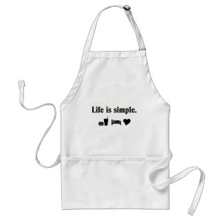 Life is simple, love standard apron
