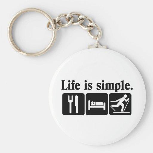 Life is simple, Ski Key Chains