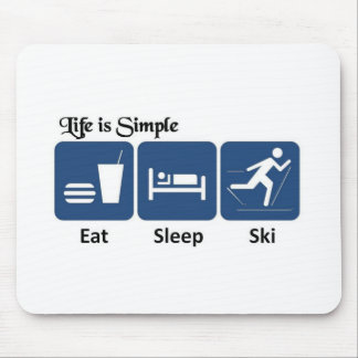 Life is simple, ski mouse mat