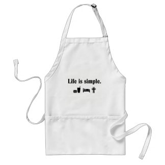 Life is simple, Worship Adult Apron