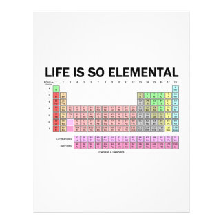 Life Is So Elemental (Periodic Table Of Elements) Personalized Flyer