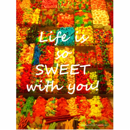 Life Is So Sweet With You Photo Cutouts