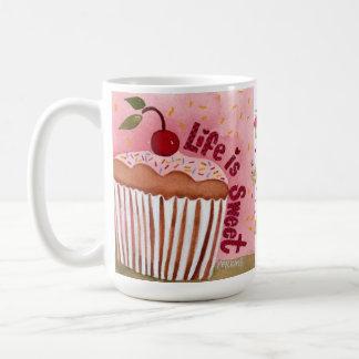Life is Sweet Cupcake Mug