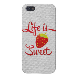 Life is Sweet Strawberry iPhone 5 Cover