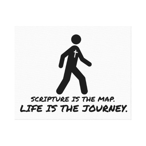 Life is the Journey Christian Canvas Prints