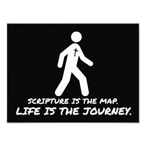 Life is the Journey Christian Art Photo