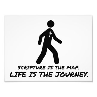 Life is the Journey Christian Photographic Print